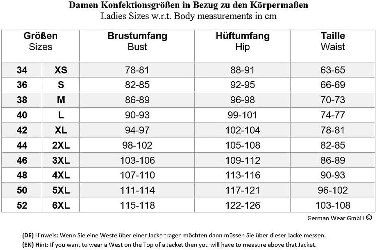 S German Wear Damen Lederjacke Motorradjacke Schwarz//Rot//Wei/ß