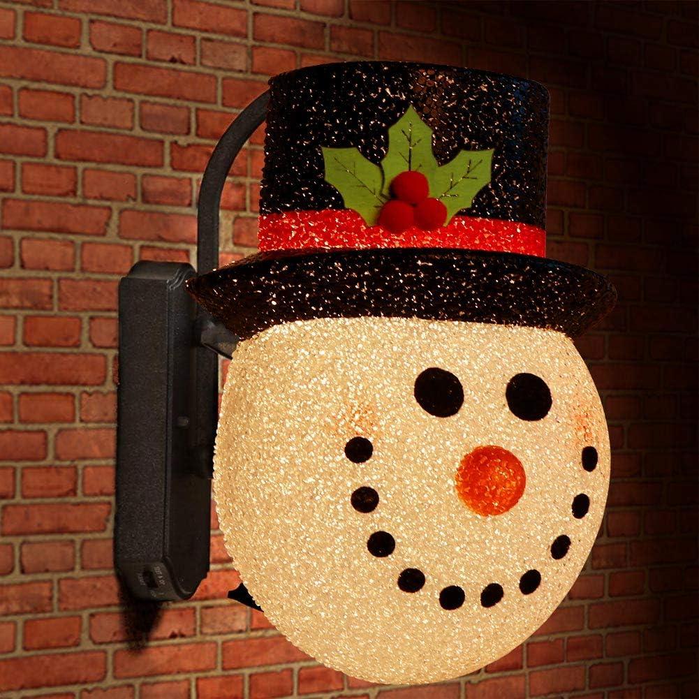 AerWo 2 Pack Snowman Christmas Porch Light Covers 12 Inch, Holiday Light Covers for Porch Lights, Garage Lights, Large Light Fixtures, Christmas Outdoor Decorations