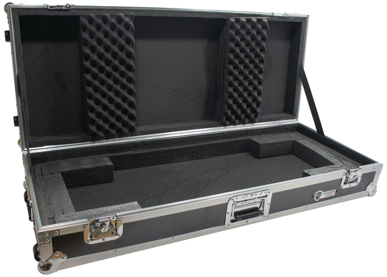 Harmony Case HCKB61W Flight Ready Rolling ATA Hard Case for 61 Note Keyboard