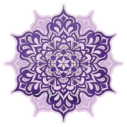 Pegatina de pared Salón Flor de mandala en violeta Mural ...