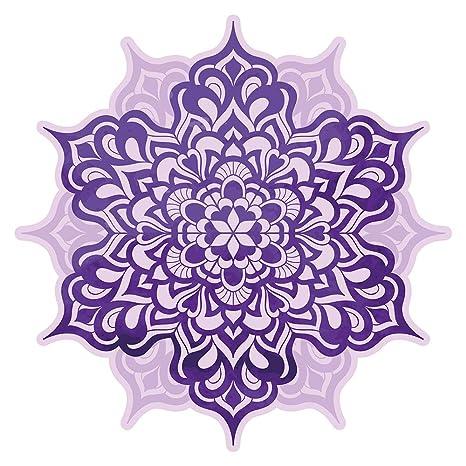 Pegatina de pared Salón Flor de mandala en violeta Mural para pegar India florituras ornamentación Marruecos