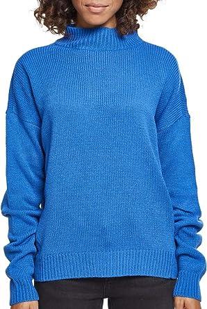 8bae1961bc95ed Urban Classics Damen Ladies Oversize Turtleneck Sweater Sweatshirt:  Amazon.de: Bekleidung
