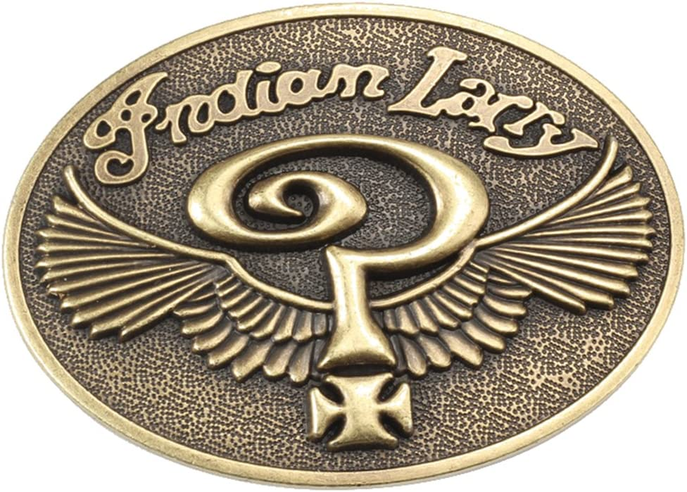 Indian Larry Belt Buckle Native American Western Cowboy Motorcycles INLY-01-CN
