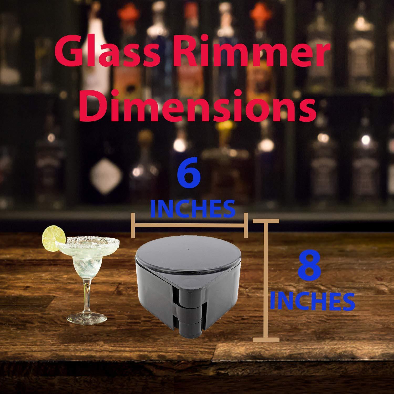 Bar Supplies Set - 3 Tier Glass Rimmer + 6 Alcohol Pour Bottles + 6 Liquor Bottle Pourers W/Tapered Spout by HeroFiber (Image #5)