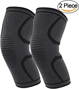 MUJUZE Knee Brace Support Compression Sleeves, Knee Sleeves, Knee Cover, Knee Supporter for Running, Pain Relief