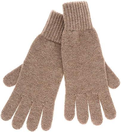 INVERNI CASHMERE Long Dark Beige Wool Women Gloves
