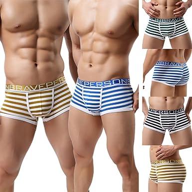 3ecc8f8952f2 Ykeke 4Pcs/Lot Men's Bulge Pouch Boxer Briefs Cotton Underwear Breathable Trunks  Underpants (S