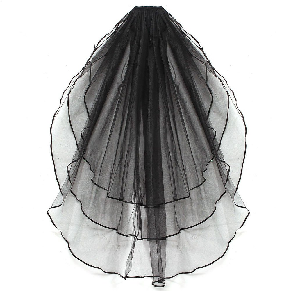 SZTARA Ladies 3 Tier Wedding Dress Veil Bridal Tulle Ribbon Edged Hair Accessories With Comb