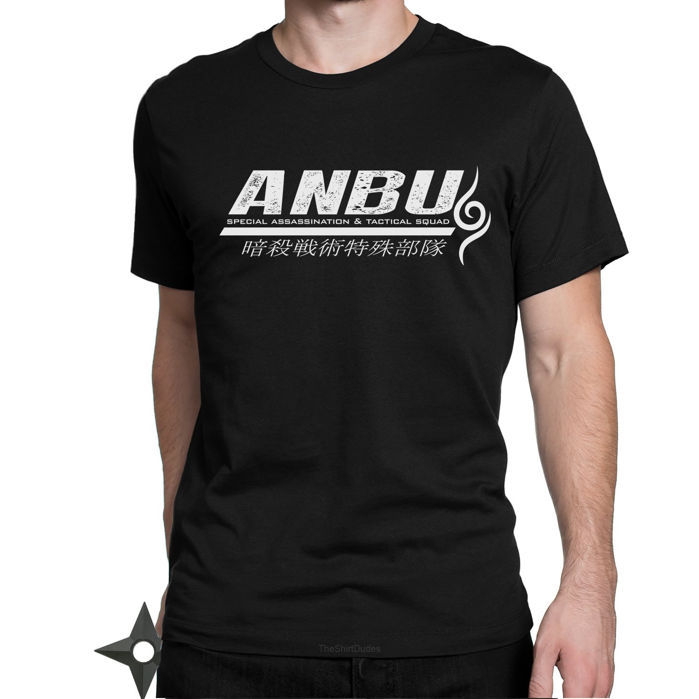 TheShirtDudes ANBU Ninja Team Squad - Adult T-Shirt for Naruto Anime