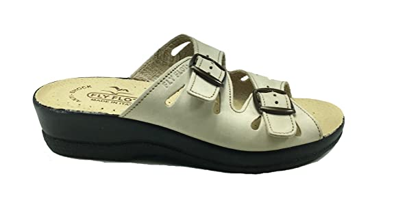Sandali donna comodi senza cinturino in VERA PELLE FLY FLOT 2008:  Amazon.it: Scarpe e borse
