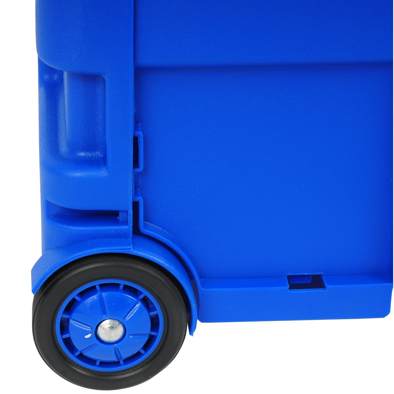 WOLTU 2x Carritos de Compra Carrito de transporte Plegable Capacidad de 35 kg 64L 42 x 40,5 x 38 cm ABS//Acero Inoxidable Azul EW4805bl-2