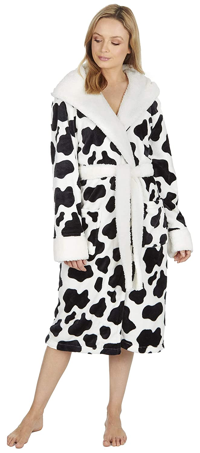 KATE MORGAN Ladies Soft   Cosy Hooded Dressing Gown  Amazon.co.uk  Clothing 3e0f08a0c