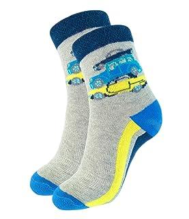 Yifen Baby Boys Girls Cartoon Carino maglia di cotone Rich Crew Socks calzini della scuola 10Pack