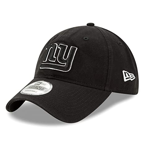 """ade239a77018b9 Image Unavailable. Image not available for. Color: New York Giants New Era  NFL 9Twenty """"Twill Core Classic"""" Adjustable Black Hat"""