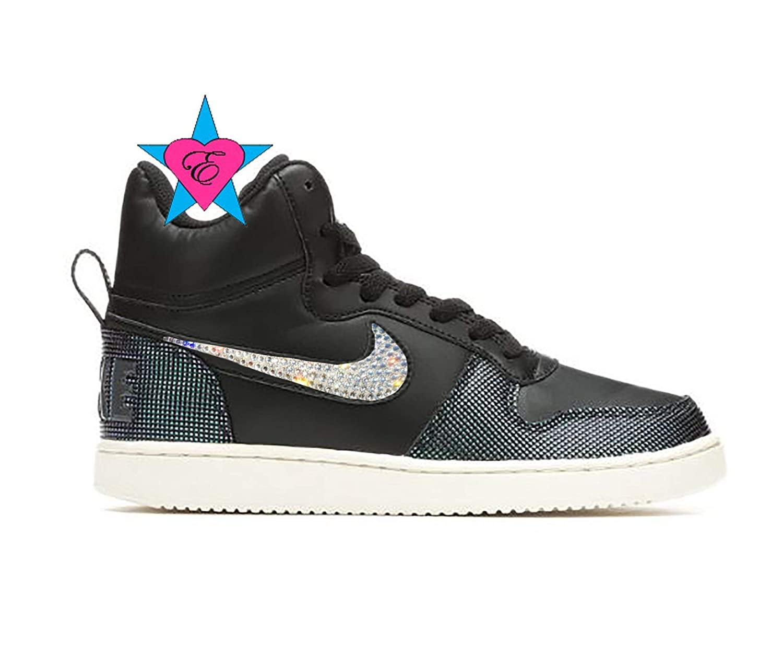 f151b7421d39 Amazon.com  Custom Crystal Women s Nike Court Borough Mid SE High Top  Basketball Shoes  Handmade