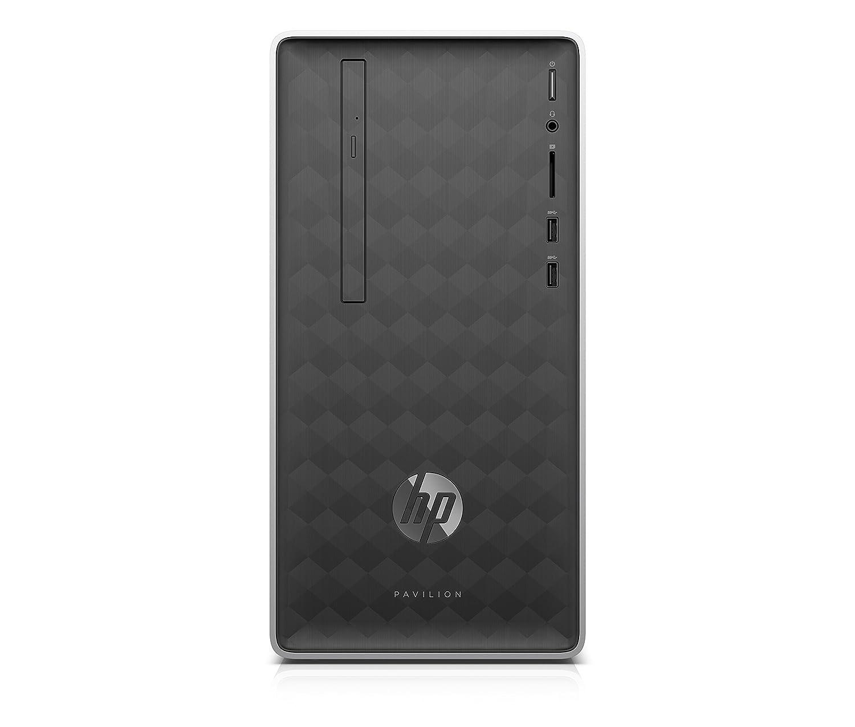 HP Pavilion 590-a0101ns - Ordenador de sobremesa (AMD E2-9000, 4GB RAM, 1TB HDD, AMD Radeon R2, FreeDos), Color Negro, Con Teclado QWERTY y Ratón: Hp: ...