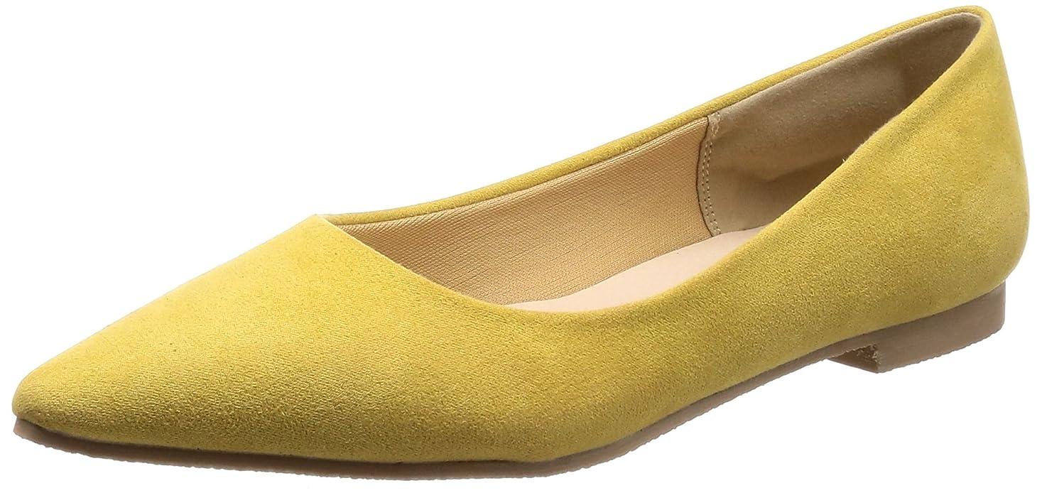 ギャロップフィードバック最小化する[メールコション] フラット スウェード カジュアル ぺたんこ 靴 婦人靴 柔らかい 歩きやすい フェミニン レディース