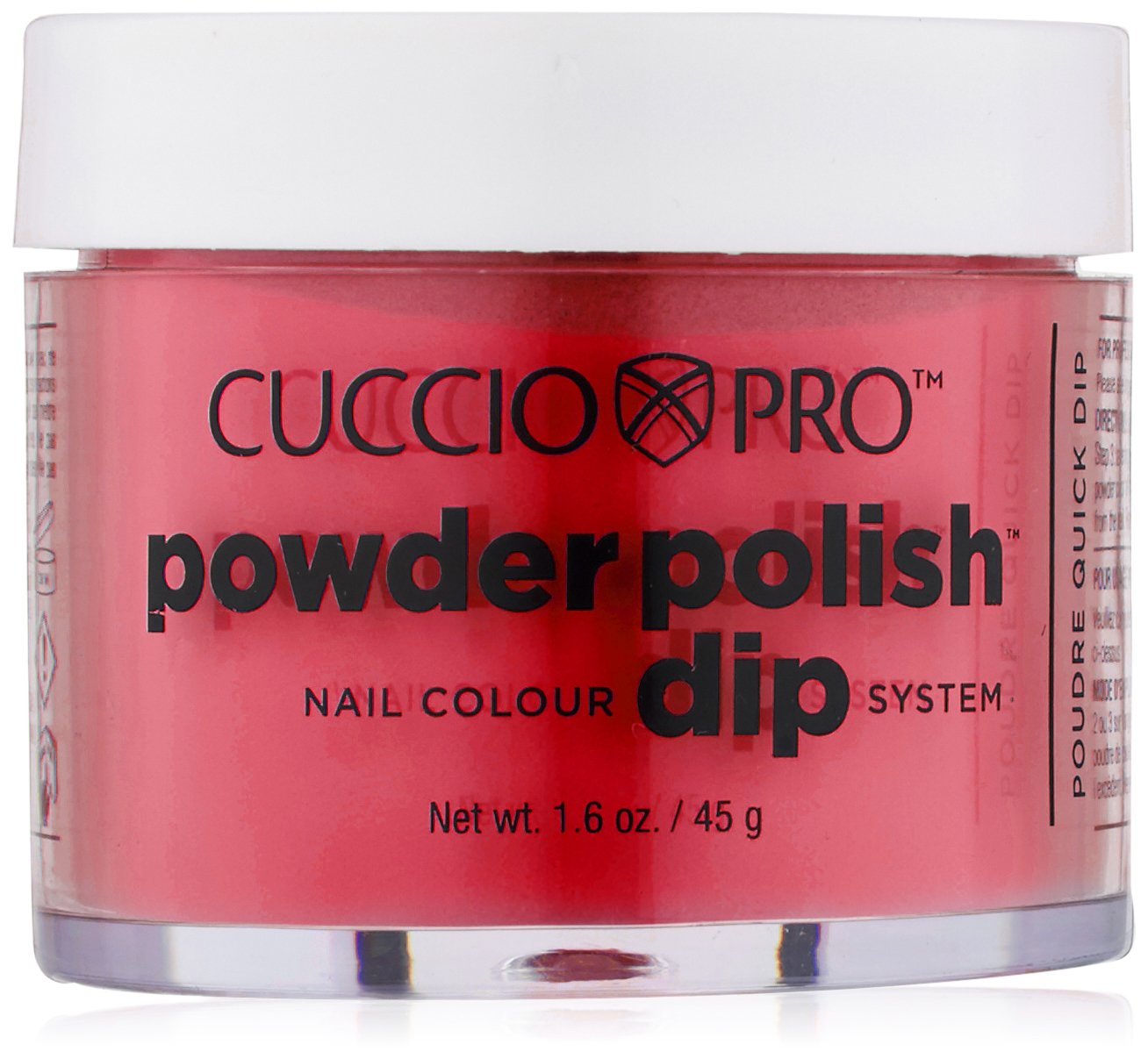 Cuccio Pro Powder Polish Dip - Candy Apple Red - Nail Lacquer for Manicures & Pedicures, Easy & Fast Application/Removal - No LED/UV Light Needed - Non-Toxic, Odorless, Highly Pigmented - 2 oz
