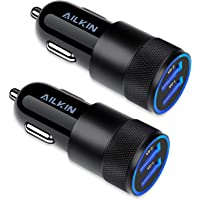 Car Charger, [2Pack] 3.4a Fast Charge Dual Port USB Cargador Carro Lighter Adapter for iPhone 13 12 11 Pro Max X XR XS…