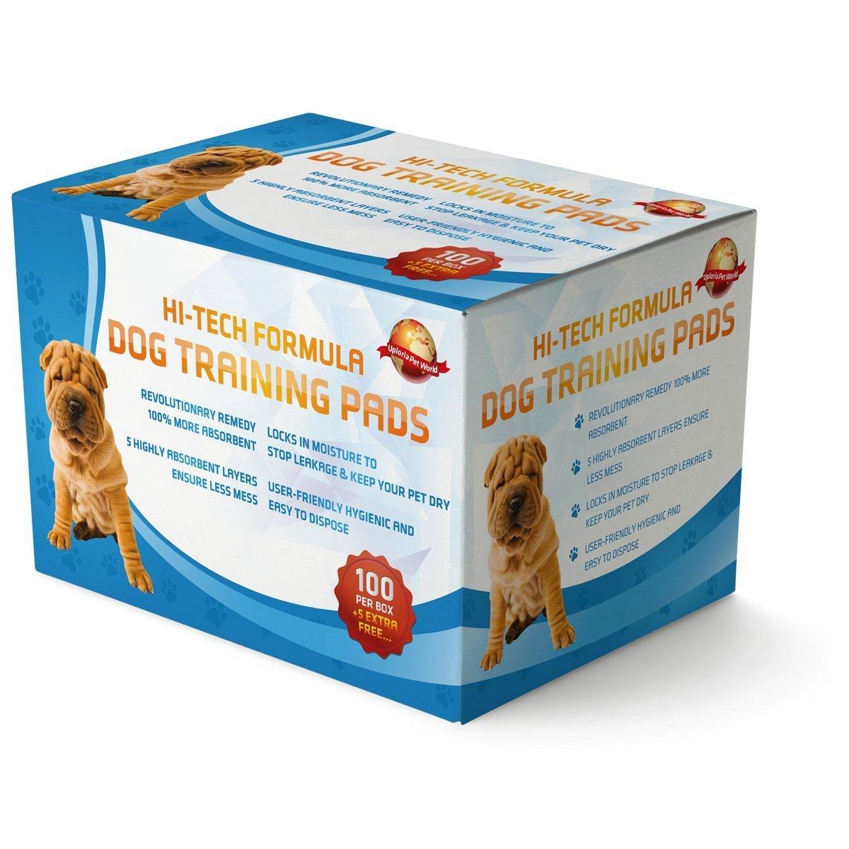 100 Empapadores Para Entrenar A Cachorros + 5 Extra GRATIS | 60 cm x 60 cm Nuevo Tamaño Superabsorbente | Esta Nueva Y Unica Solución De 5 Capas Protege Las ...