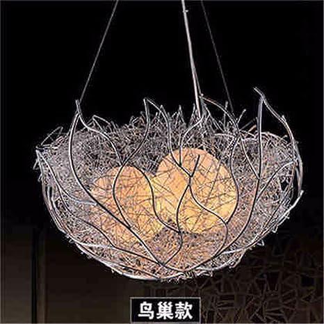 JhyQzyzqj Iluminación de techo de interior Lámparas de araña Iluminación colgante LED s aves anidan