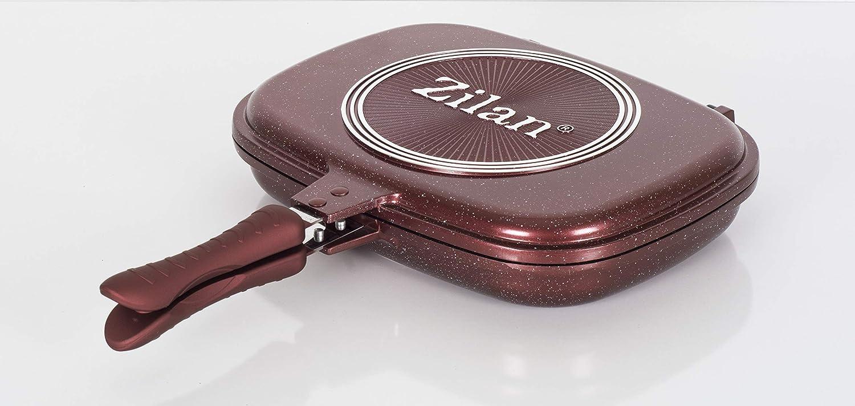 Zilan ZLN9522 - Sartén para freír, Color Rojo, 48 cm ...
