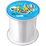 Color Scissor Fishing Line, 500 Meters Clear Fluorocarbon Fishing Wire Nylon Strong Monofilament Fishing Line
