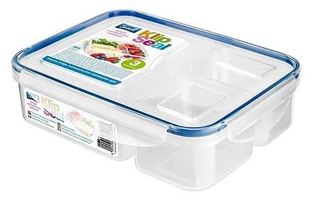 Klip Seal 3 Compartment Split Plastic Food Lunch Storage Box Container BPA Free  sc 1 st  Amazon UK & Klip Seal 3 Compartment Split Plastic Food Lunch Storage Box ...