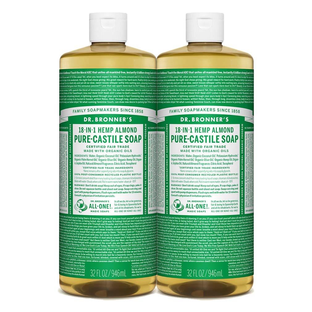Dr. Bronner's Pure-Castile Liquid Soap Almond 32 oz. (Pack of 2)