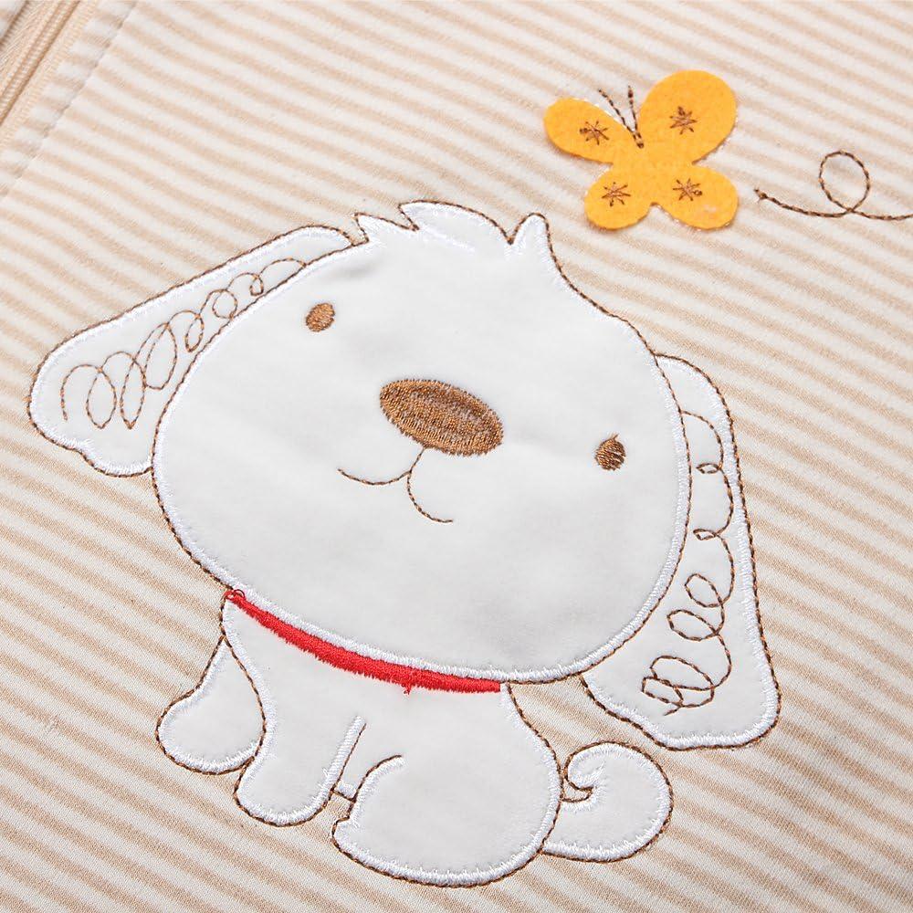 Toutes saisons 2,5 tog Blanc 130CM 3-6jahre Motif chien Blanc Gigoteuse pour b/éb/é Fille En coton bio