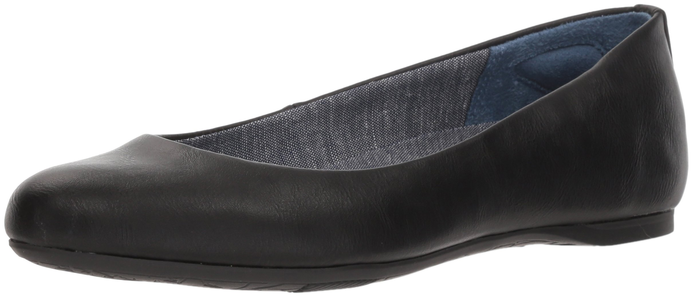 Dr. Scholl's Shoes Women's Giorgie Ballet Flat, Black Smooth, 8.5 M US