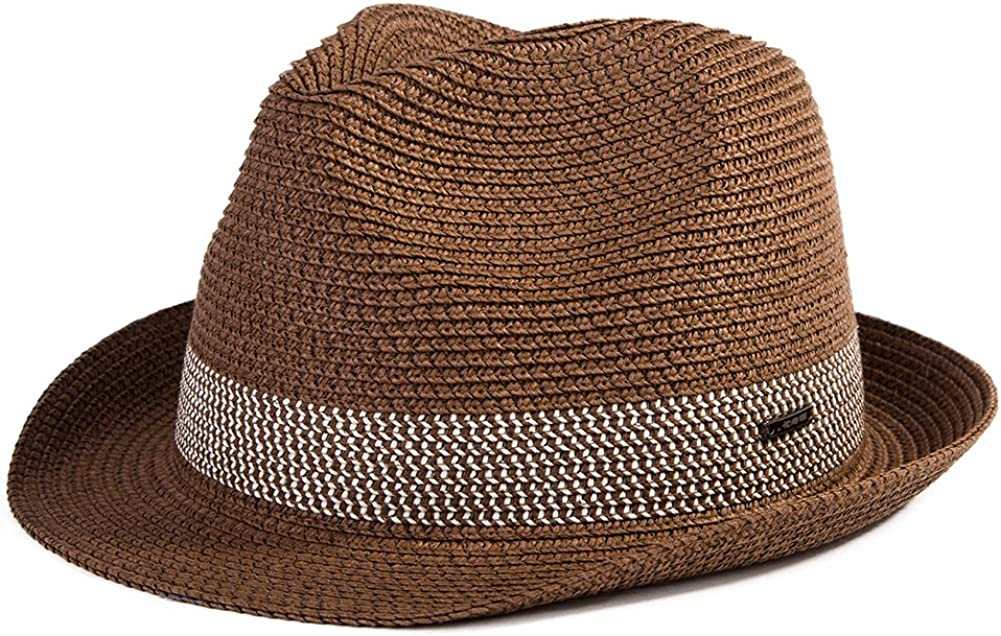SIGGI Paja Unisex Dom Sombrero Hombres Empacables Mujeres Fedora Trilby Panamá Verano Ala Corta Moda