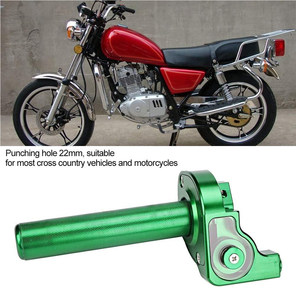 Alinory Alliage Daluminium Moto Acc/él/érateur TwistGrips 22mm Grip Accelerator Cyclomoteur Refit Accessoire vert