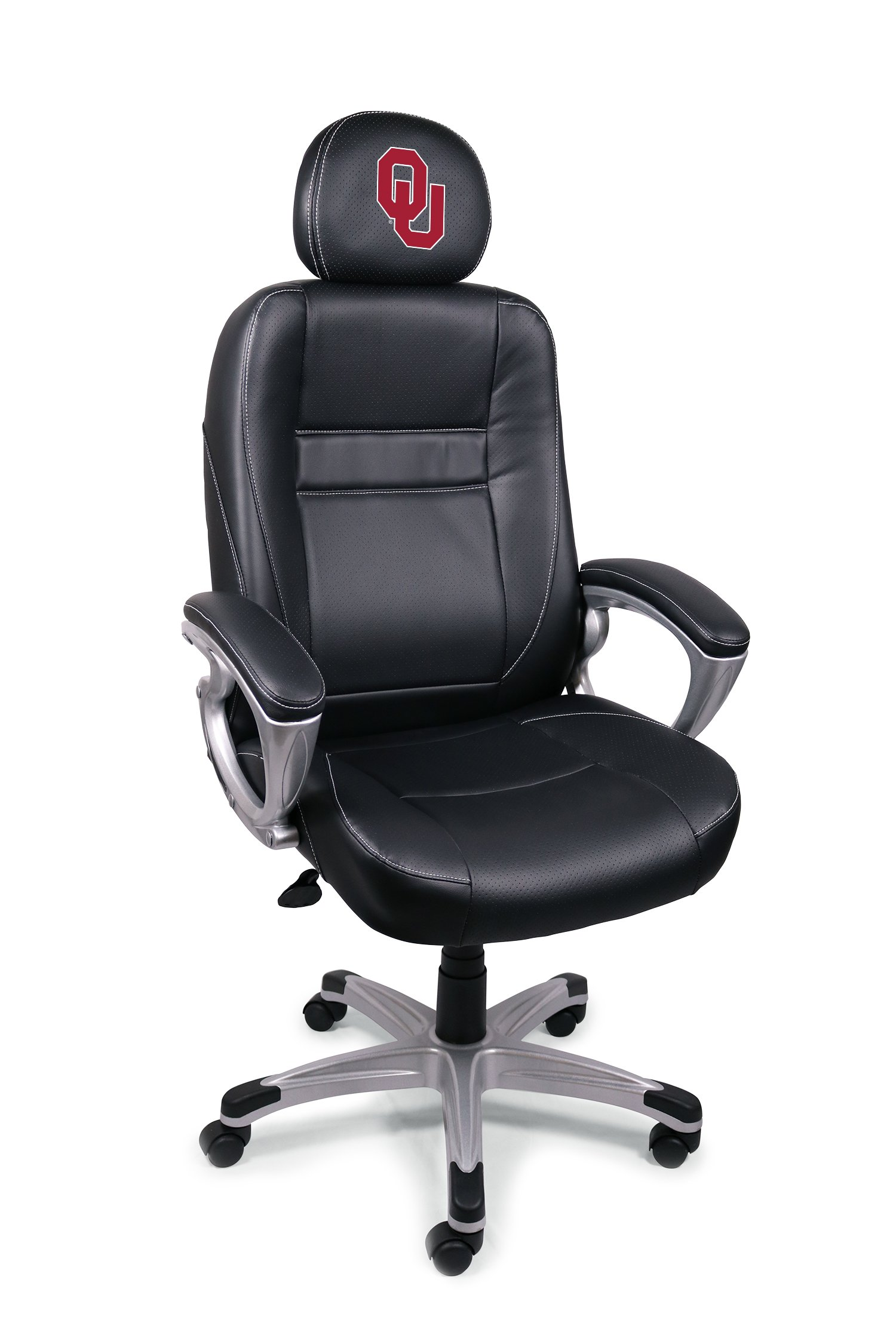 Wild Sports NCAA College Oklahoma Sooners Leather Office Chair