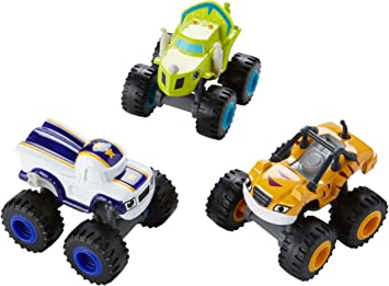 Fisher-Price Nickelodeon Blaze & The Monster Machines, 3 Pack Die ...