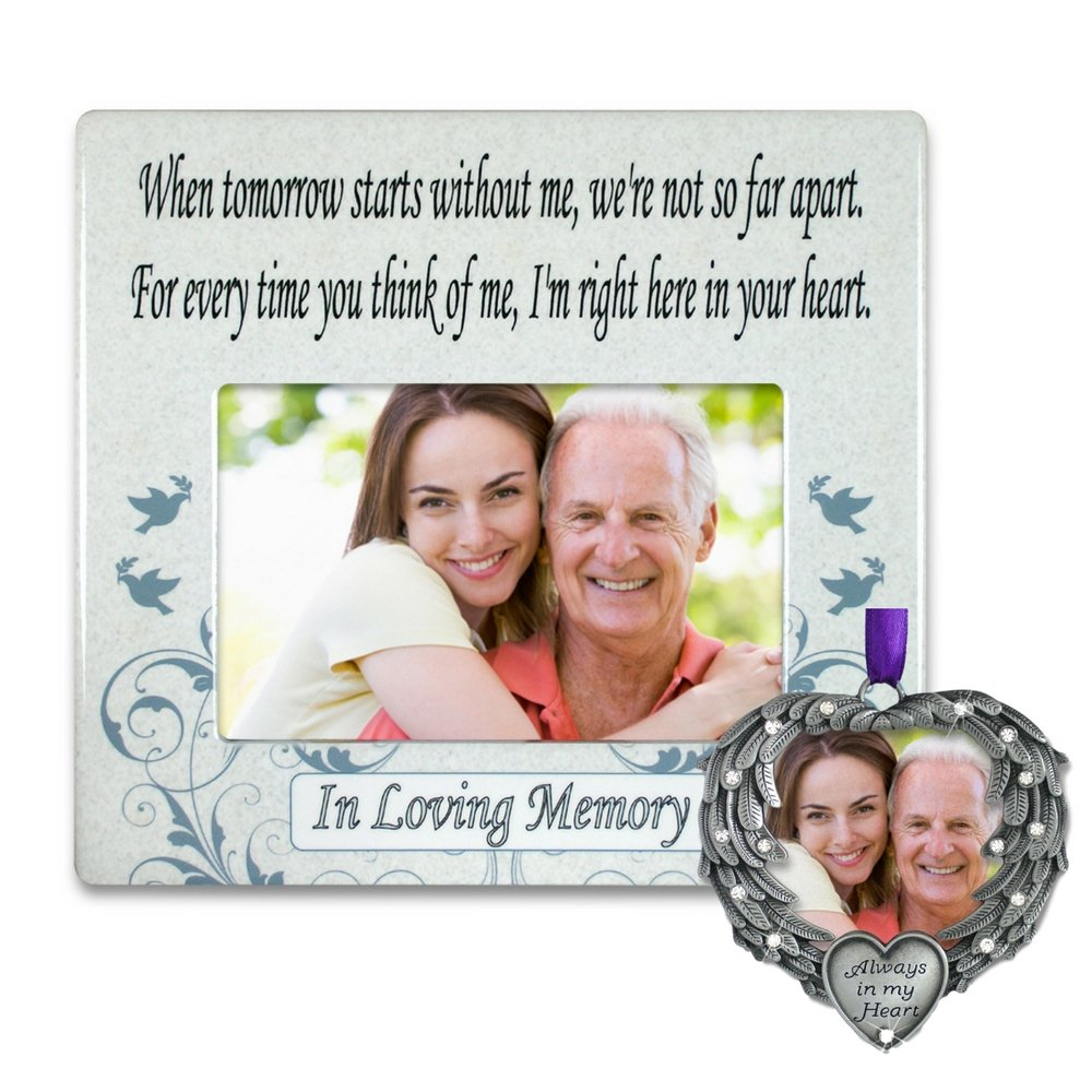 Amazon.com - Memorial Frame and Ornament Set - When Tomorrow Starts ...