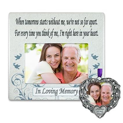 Amazon.com - Memorial Frame and Ornament Set - When Tomorrow Starts ...