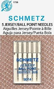 Schmetz Ball Point Jersey Machine Needles-Size 14/90 5/Pkg