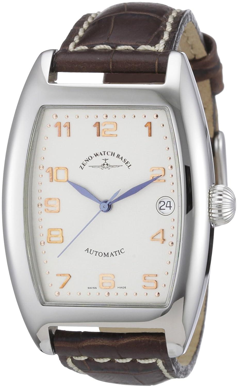 Zeno Watch Basel Unisex-Armbanduhr Tonneau OS Analog Automatik Leder 8080-f2