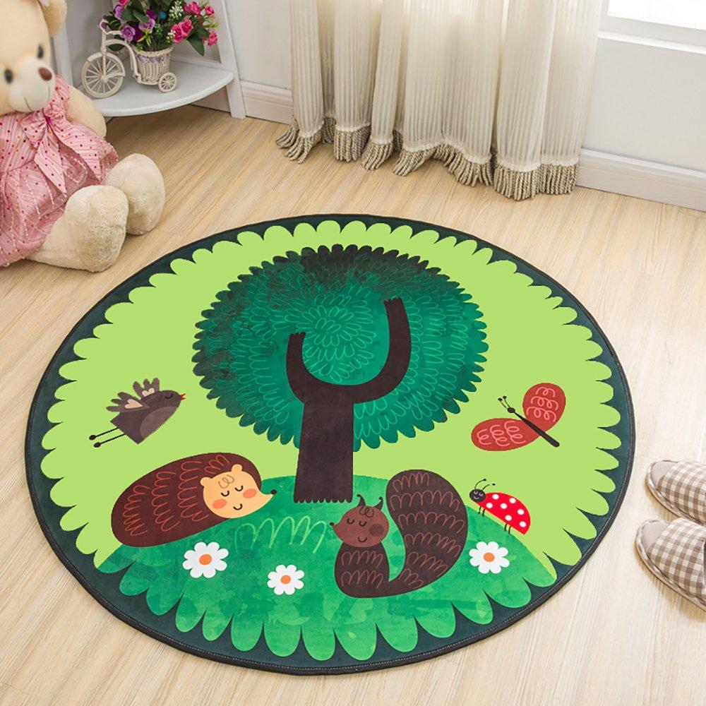 HYRL Carpets Tappeto per Bambini Tappeto per Bambini Tappeto Moderno Antiscivolo per Sedia Girevole da Soggiorno,80Cm