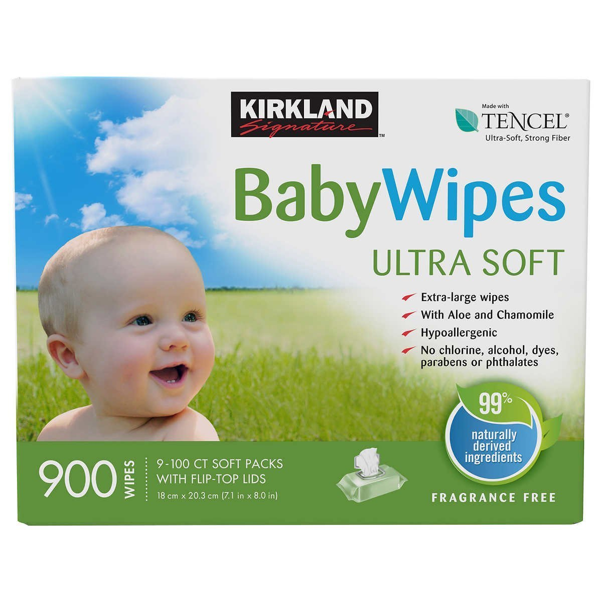 Kirkland Signature Baby Wipes (900 Wipes) by Kirkland Signature