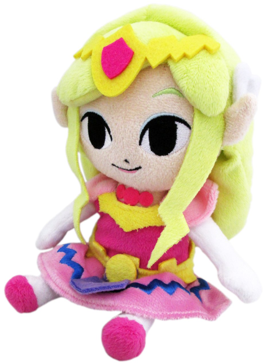 Little Buddy Legend of Zelda Wind Waker 8-Inch Princess Zelda Plush Japan VideoGames 1369 Accessory Consumer Accessories