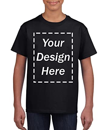 6005bed6 Amazon.com: Custom T-Shirt - Design Your Own Personalized Shirt 11 Colors  for Kids Girls Boys: Clothing
