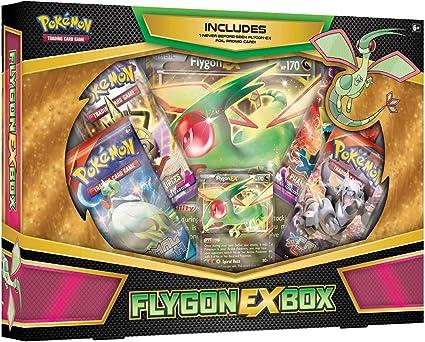 Amazon.com: Caja de juego de cartas TCG: Flygon-EX: Toys & Games