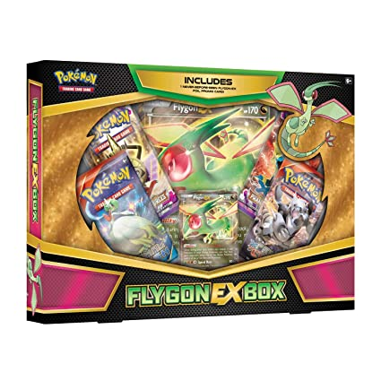 627fa03fbfd1f7 Amazon.com: Pokemon TCG: FLYGON-EX Box -4 Booster Packs with A Foil Promo  Card and 1 Special Oversize Card: Toys & Games