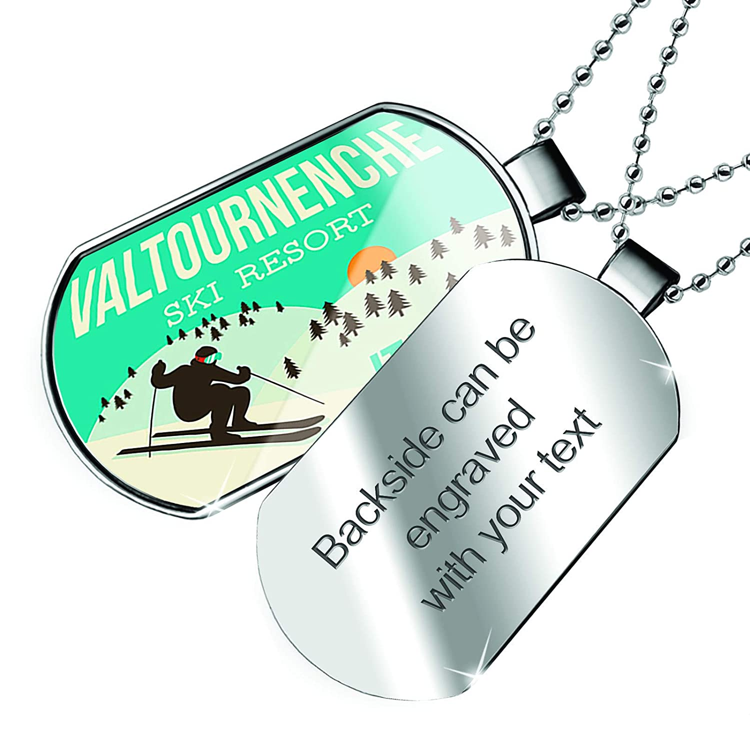 NEONBLOND Personalized Name Engraved I Love My Irish Hunter Horse Dogtag Necklace