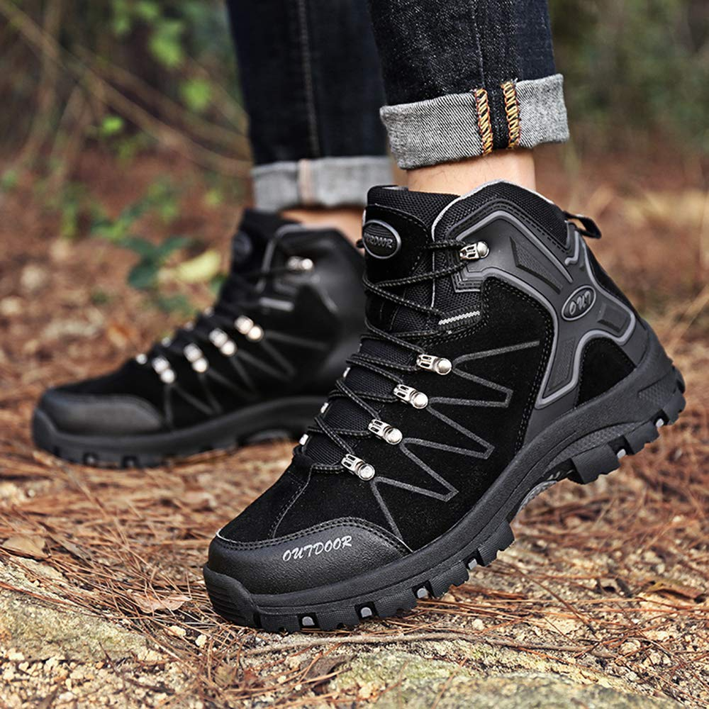 10486b6df30b1 TSIODFO Waterproof Hiking Boots for Men Suede Ankle Boot Outdoor Climbing  Trekking Walking Sneakers Winter Hiking Shoes