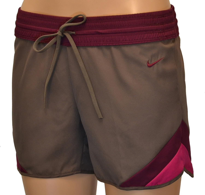 Nike Womens Backheel Short Training Athletic Running Shorts Brown Purple