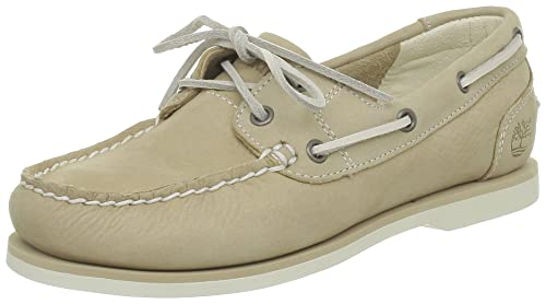 Timberland FTW_EK Classic Unlined Boat Shoe, Náuticos para Mujer, Beige (Light Tan), 41.5 EU: Amazon.es: Zapatos y complementos