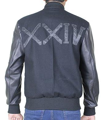 428aea82f64e26 III-Fashions Adonis Creed Michael B Jordan XXIV Letterman Varsity Battle  Wool Bomber Leather Jacket